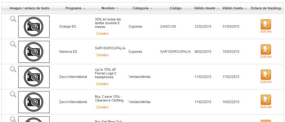zanox incentivos y cupones