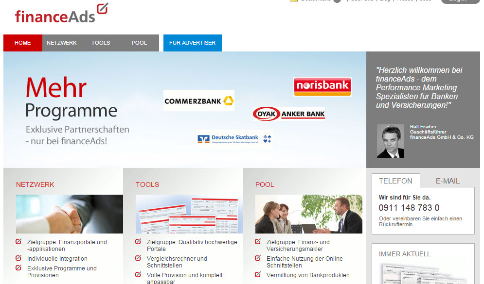 financeads afiliacion alemania