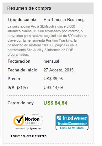 semrush precios 2015