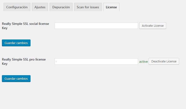activar licencia really simple ssl