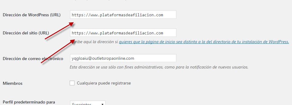 cambiar wordpress a https